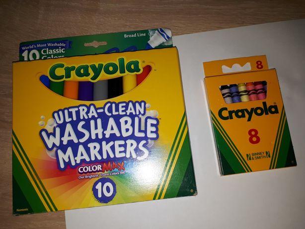 фломастеры и восковые карандаши crayola