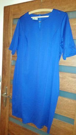 Sukienka niebieska chabrowa