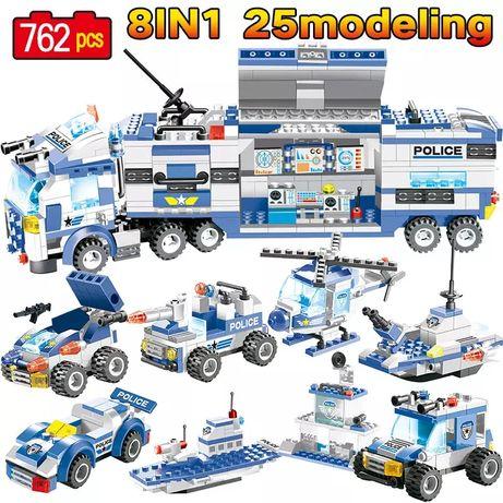 Miasto Policja Klocki z LEGO komp. pojazdy policyjne 762 szt prezent