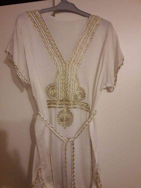Biała tunika hafty rozm.M/L