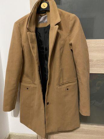 Płaszcz karmelowy nowy 36 s zalando vero moda jesień wiosna