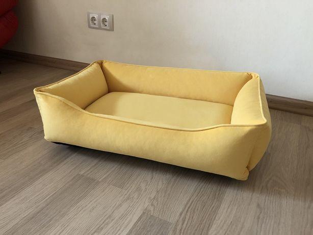Лежак для собак (70х50 см) желтый