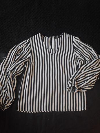 Bluzka w czarno biale paski Kappahl 36