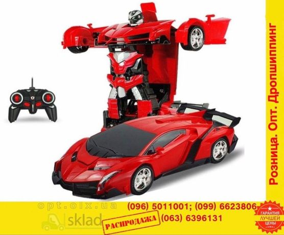 машинка-трансформер на пульте радиоУправленияLamborgini RobotCar робот