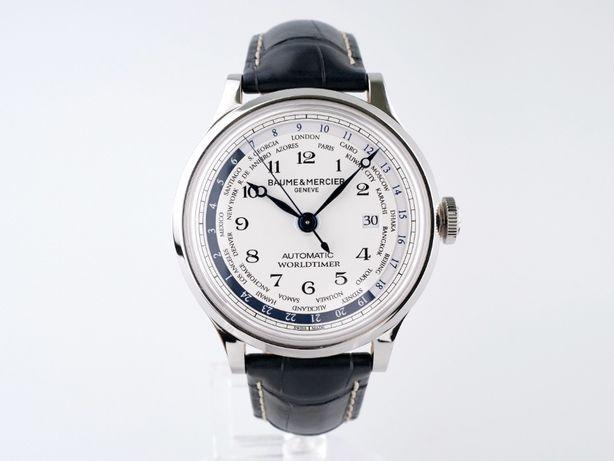 Мужские новые часы Baume & Mercier Worldtimer 44 мм