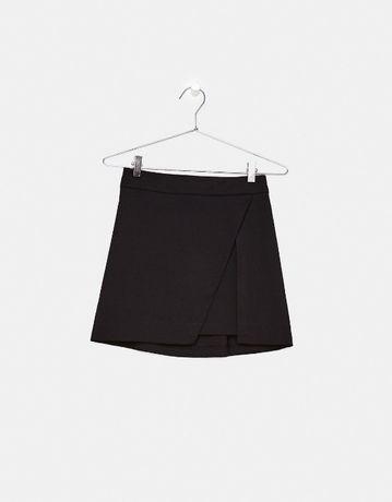 Bershka mini spódnica spódniczka tulipan rozcięcie gumka M 38