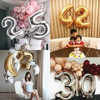 Воздушные фольгированные шары на день рождения свадьбу выписку годик