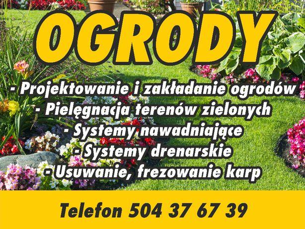 Usługi ogrodnicze,zakładanie trawników,glebogryzarka separacyjna