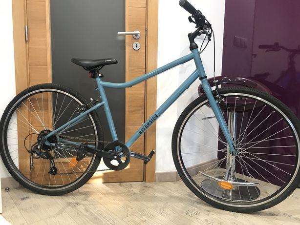 Bicicleta Riverside BTWIN Azul semi-nova