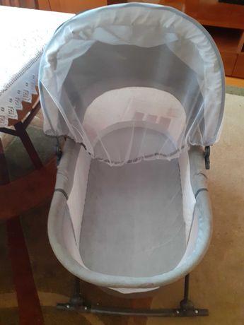 Kołyska na biegunach dla dziewczynki siwa baby mix