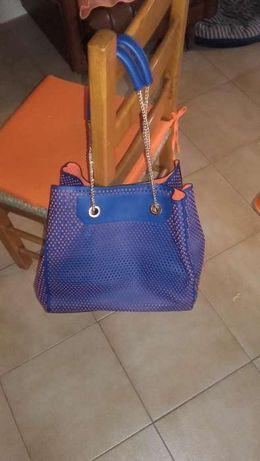 Mala azul e laranja (última baixa de preço)