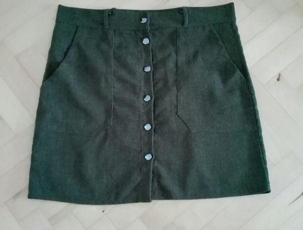 Spódniczka M 38 ciemna zieleń