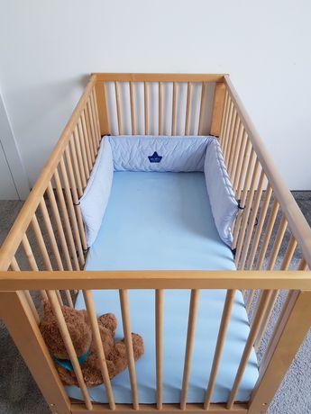 Łóżeczko Ikea Gulliver + materac Vyssa 2 sztuki Blizniaki