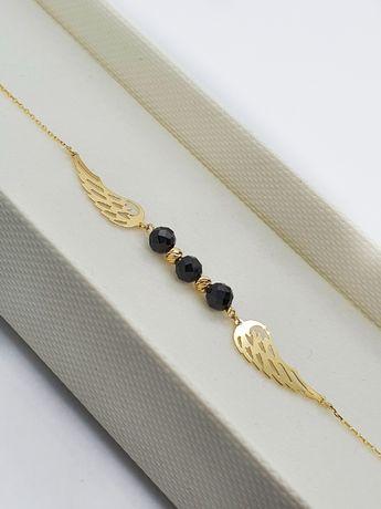 Bransoletka damska złoto 14-karatów, skrzydła anioła BR3871