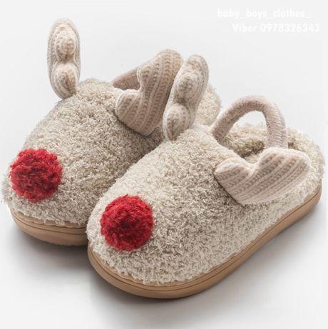Детские теплые тапки тапочки  домашние подарок ребенку next zara h&m