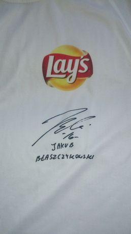 Koszulka z nadrukiem autografu...