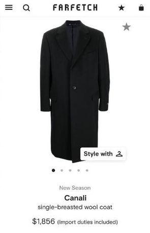Luxury итальянское пальто canali оригинал шерсть как brioni,barberry