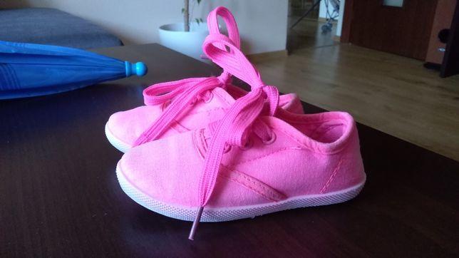 Trampki tenisowki neonów dla dziewczynki 24 różowe