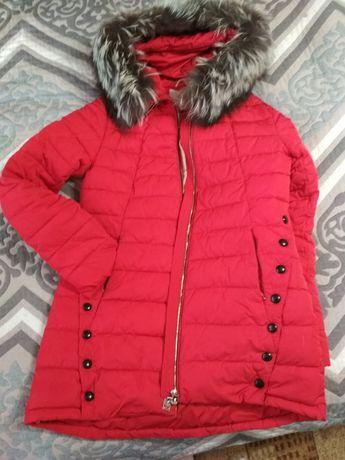 Пуховик куртка парка красная зимняя