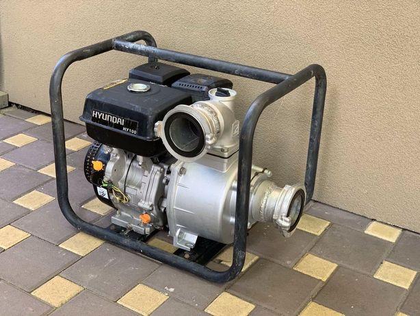 Мотопомпа Hyundai HY 100  9.0 л.с. 1335л/мин бензин c заборником