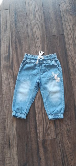 Spodnie jeansowe joggersy jeansy Cool Club Smyk r 74