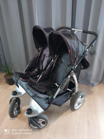 Wózek bliźniaczy KEES, stan bardzo dobry, super jakość, dla rodzeństwa