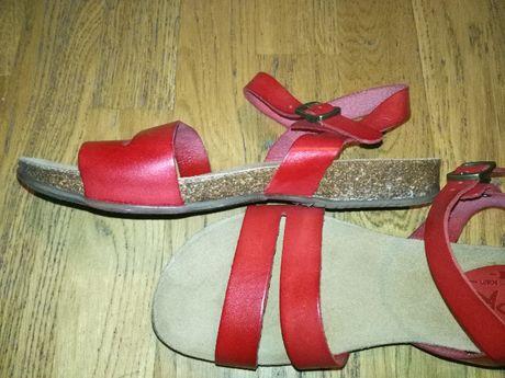 hiszpańskie skórzane sandały firmy spk, rozm. 37
