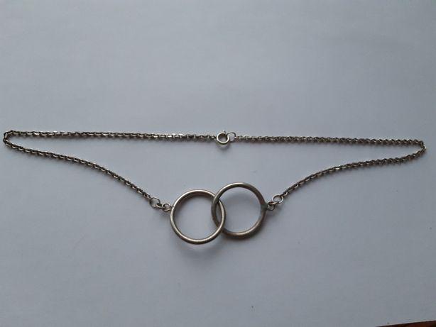 Ciekawy srebrny naszyjnik