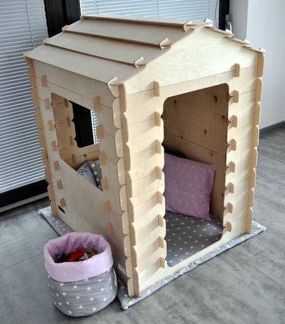 Domek drewniany ze sklejki bez skręcania 95x85cm UNIKAT