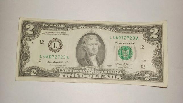 Два доллара США редкая банкнота