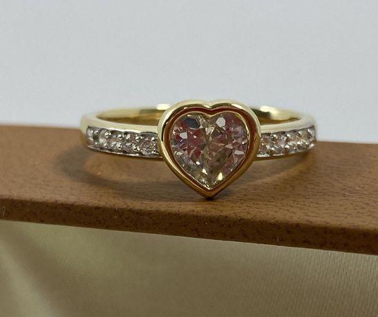 NOWY piękny złoty pierścionek 3,4g / 585 / r. 14