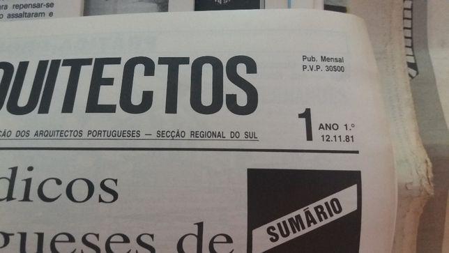 Jornal Arquitectos 1ª Série de 1981 a 87 - 35 jornais