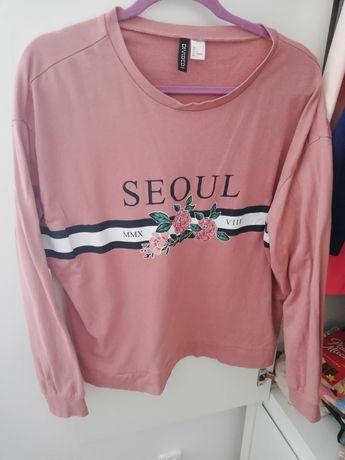 Bluza H&m L brudny róż