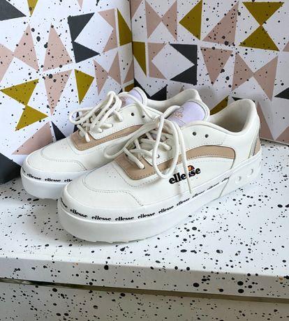 Женские 39 размер новые белые кожаные кроссовки/кеды Ellesse