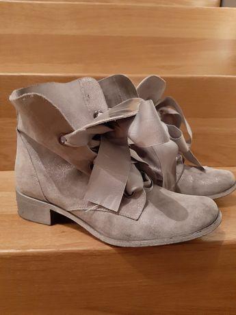 Buty botki szare Di Lusso wzór 1858 rozm. 38