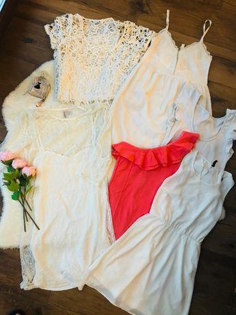 Zestaw ślicznych wiosennych sukienek 6 szt m.in. H&M Bershka roz S