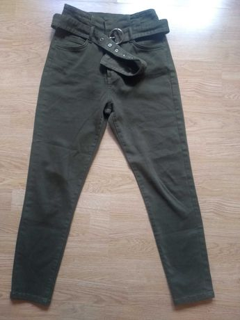 Spodnie Bershka 36/38.Khaki