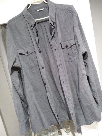 Męska koszula jeansowa melanżowa