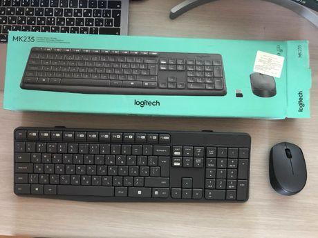 Топовая беспроводная Клавиатура и мышь Logitech MK235