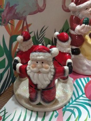 Подсвечник новогодний, Дедушка мороз подсвечник