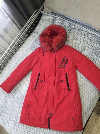 Куртка, парка на девочку( лет9-11)