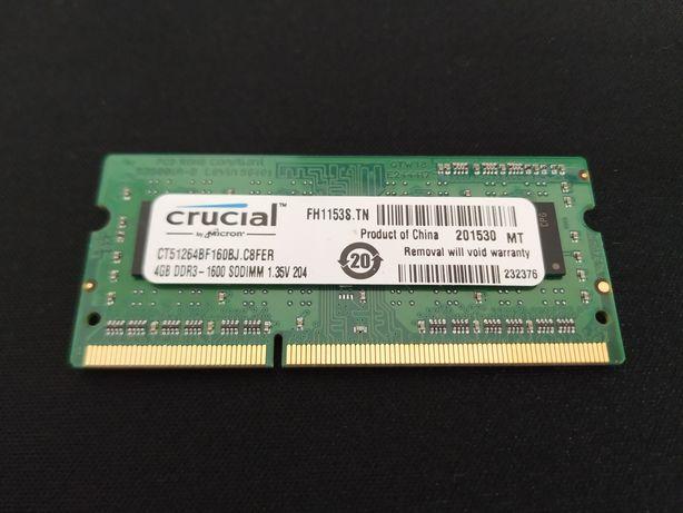 Memória RAM Crucial DDR3 4GB LV 1.35V