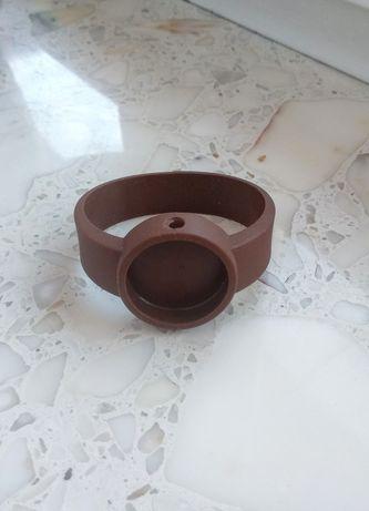 Pasek zegarek obag oclock strap chocolate czekoladowy brązowy