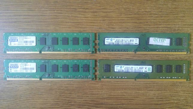 Оперативная пам'ять DDR3 16GB 4*4GB 1333-1666mhz