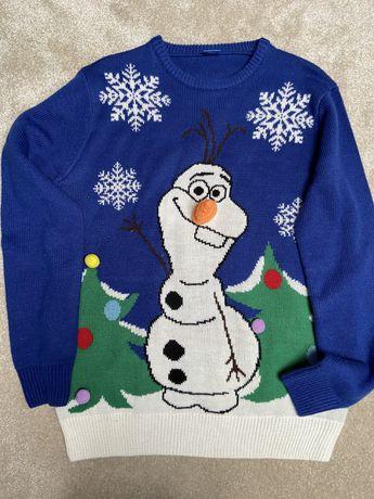 Sweterek świąteczny Kraina Lodu Olaf R38 M sweter na święta