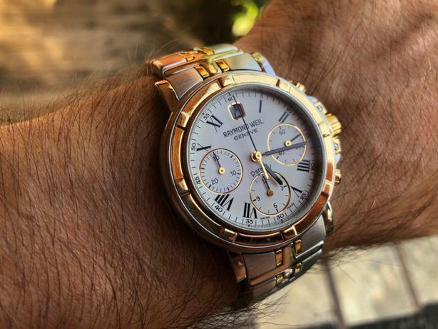 Часы швейцарские Raymond Weil, золото 750+сталь