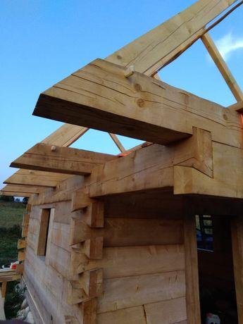 usługi ciesielskie stolarskie stolarz cieśla domy chaty drewniane