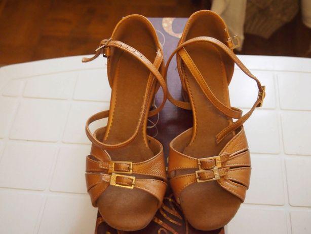 туфли блок каблук бальные GRAND PRIX р.32 девочка