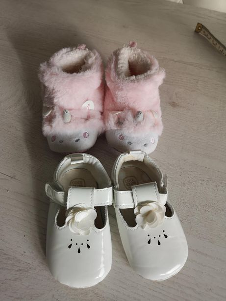 Buty butki niechodki balerinki chrzciny eleganckie dziewczynka