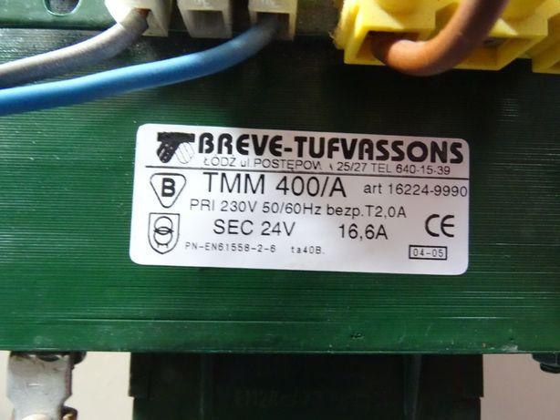 ransformator jednofazowy TMM 400/A 230/ 24V,16,6 a